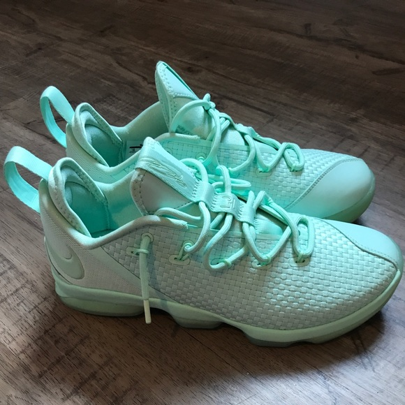 Nike Lebron 14 low Pastel mint green